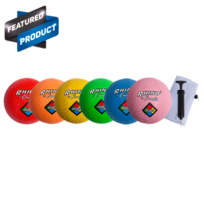 Champion Sports PG85NSET 8.5 in. Playground Ball Neon Set Multicolor - Set of 6