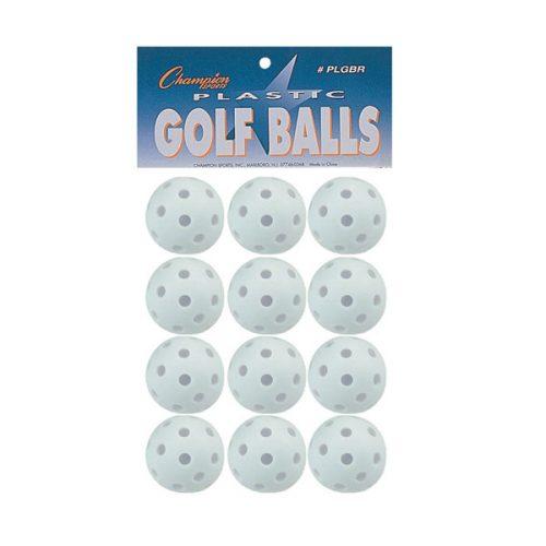 Champion Sports PLGBR 2 in. Plastic Golf Ball - Set of 12