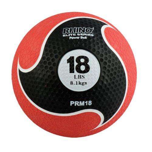 Champion Sports PRM18 18 lbs Rhino Elite Medicine Ball Red