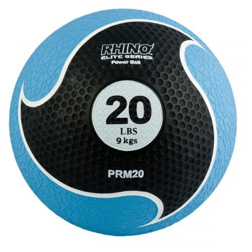 Champion Sports PRM20 20 lbs Rhino Elite Medicine Ball Blue