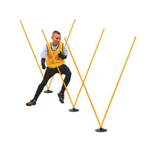 Champion Sports PROAGSET Pro Agility Pole Set Yellow & Black