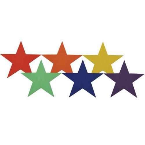 Champion Sports PSRSET 9 in. Poly Star Marker Set Multicolor - Set of 6