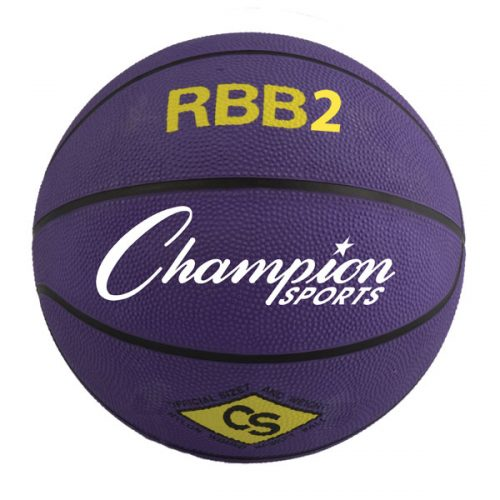 Champion Sports RBB2PR 27.5 in. Pro Rubber Basketball Purple