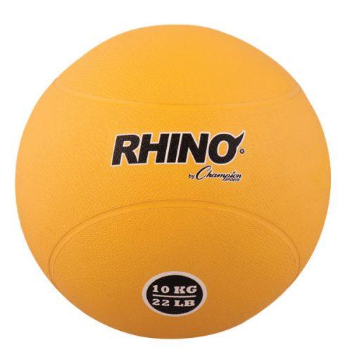 Champion Sports RMB10 10 kg Rubber Medicine Ball Yellow