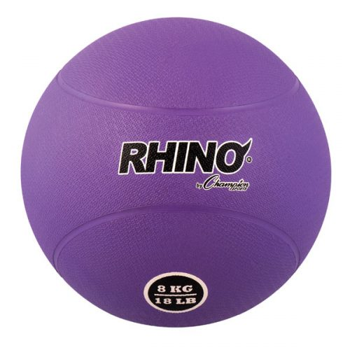 Champion Sports RMB8 8 kg Rubber Medicine Ball Purple