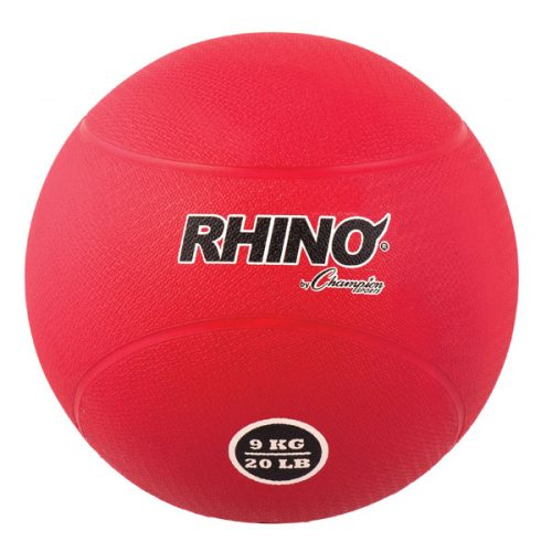 Champion Sports RMB9 9 kg Rubber Medicine Ball Red