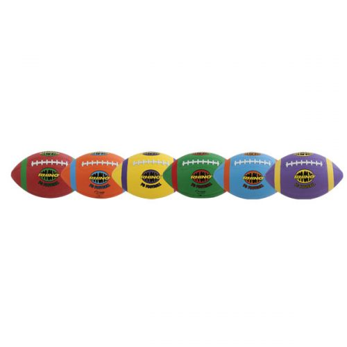 Champion Sports RMXFBSET 8.5 in. Rhino Max Playground Football Set Multicolor - Set of 6
