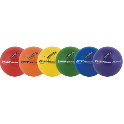 Champion Sports RS71SET 7 in. Rhino Skin Ball Set Multicolor - Set of 6