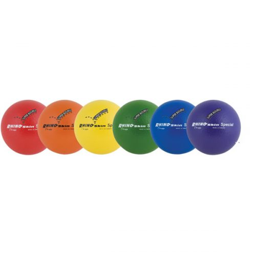 Champion Sports RS86SET 8.25 in. Rhino Skin Ball Set Multicolor - Set of 6
