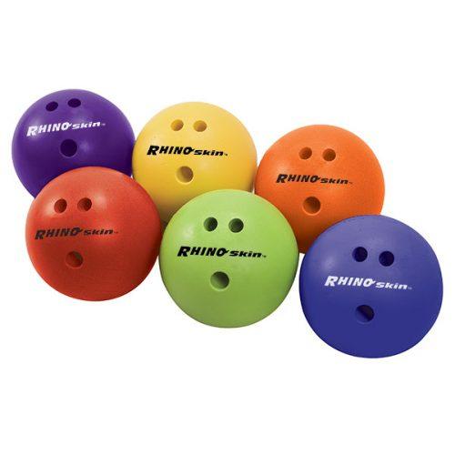 Champion Sports RSBXSET 1.5 lbs Rhino Skin Bowling Ball Set Red