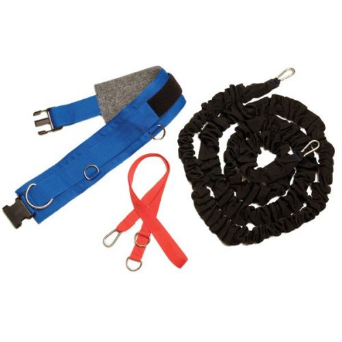 Champion Sports RT610 All Purpose Resistance Belt Set Black & Red & Royal Blue