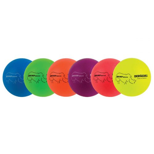 Champion Sports RXD6NRSET Rhino Skin Dodgeball Set Neon Rainbow - Set of 6