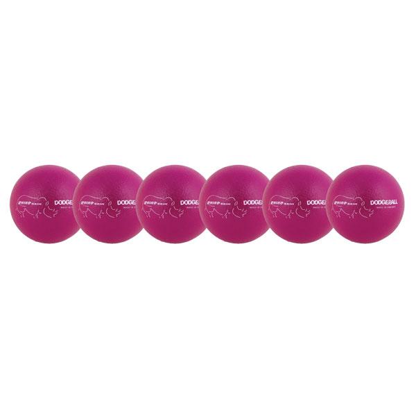 Champion Sports RXD6NVSET 6.3 in. Rhino Skin Dodgeball Set Neon Purple - Set of 6