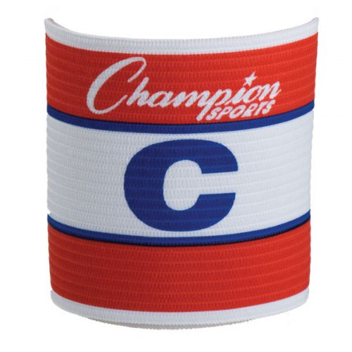 Champion Sports SCA Official Adjustable Captains Armband Red & White & Blue