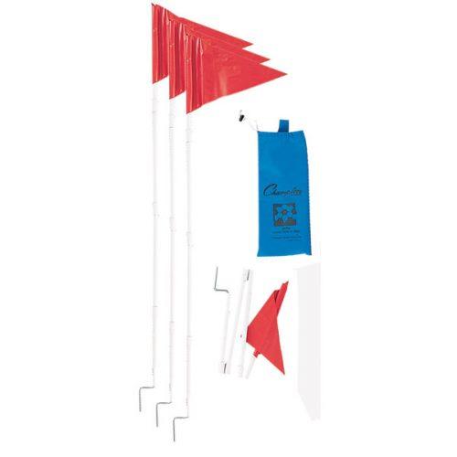Champion Sports SCF50 Soccer Fold A Flag Set Red - Set of 4