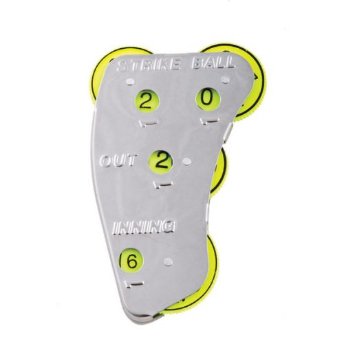 Champion Sports SI4 4 Whee Umpire Indicators Optic Yellow - Pack of 12