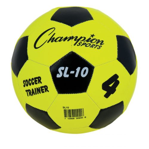 Champion Sports SL10 Trainer Soccer Ball Yellow & Black - Size 4