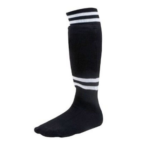 Champion Sports SL6B Youth Sock Style Soccer Shinguard Black - Age 6-8