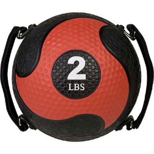 Champion Sports SMD2 2 lbs Rhino Ultra Grip Medicine Ball Red