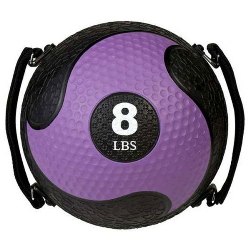 Champion Sports SMD8 8 lbs Rhino Ultra Grip Medicine Ball Purple