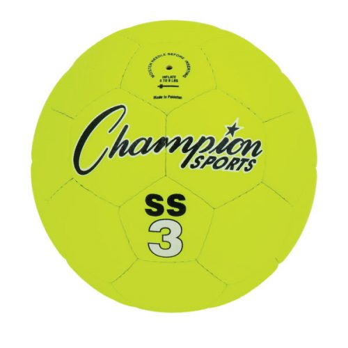 Champion Sports SS3 Super Soft Soccer Ball Fluorescent Yellow - Size 3