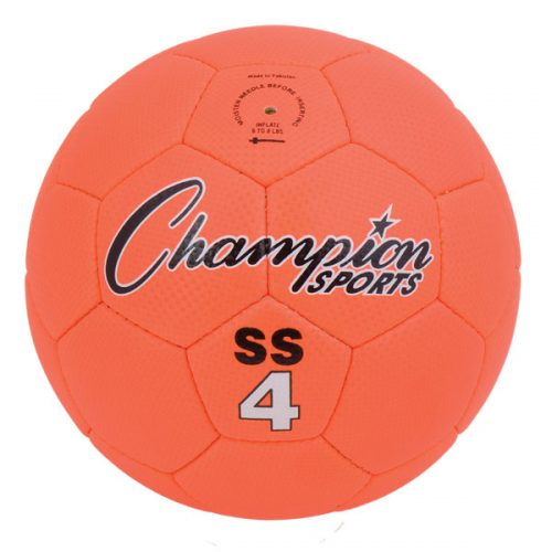 Champion Sports SS4 Super Soft Soccer Ball Fluorescent Orange - Size 4