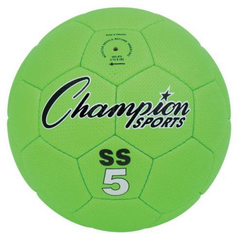 Champion Sports SS5 Super Soft Soccer Ball Fluorescent Green - Size 5