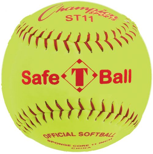 Champion Sports ST11 11 in. Safety Softball Optic Yellow & Red