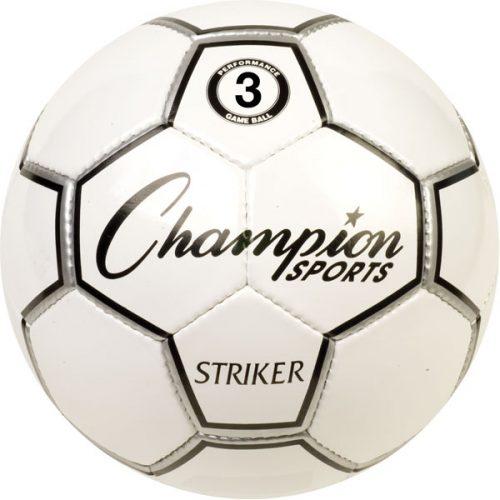 Champion Sports STRIKER3 Striker Soccer Ball Black & White - Size 3