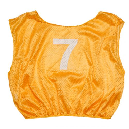Champion Sports SVMWNGD Practice Numbered Adult Scrimmage Vest Yellow