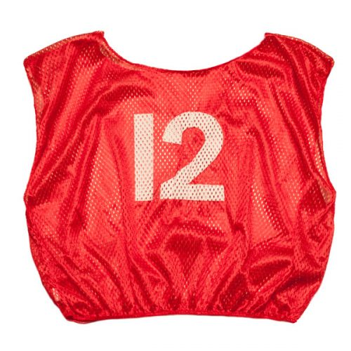 Champion Sports SVMWNRD Practice Numbered Adult Scrimmage Vest Red