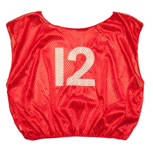Champion Sports SVYWNRD Practice Numbered Youth Scrimmage Vest Red