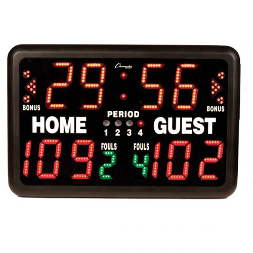 Champion Sports T90 Multi-Sport Tabletop Indoor Electronic Scoreboard Black