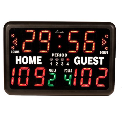 Champion Sports T90R Multi-Sport Tabletop Indoor Electronic Scoreboard & Remote Black