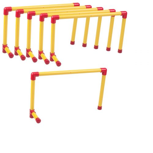 Champion Sports UH12SET 12 in. Ultra Hurdle Set Red & Yellow - Set of 6