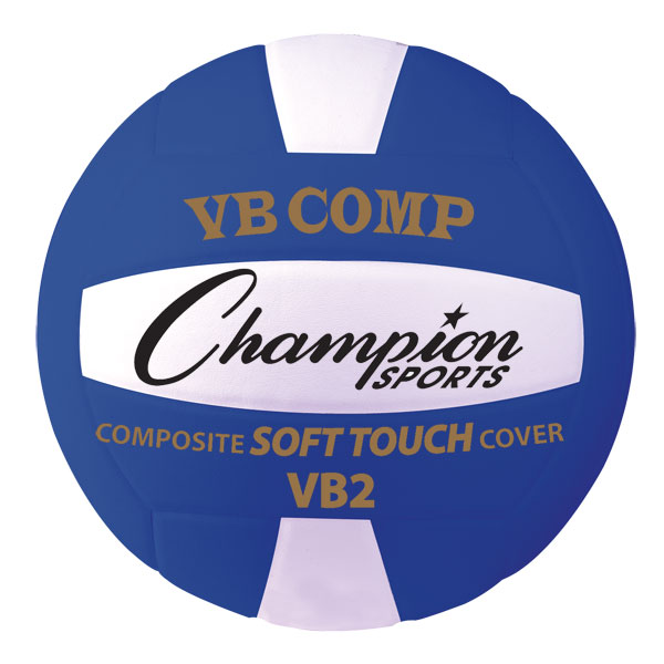 Champion Sports VB2BL 8.25 in. VB Pro Comp Series Volleyball Blue & White