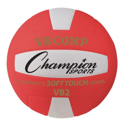 Champion Sports VB2RD 8.25 in. VB Pro Comp Series Volleyball Red & White