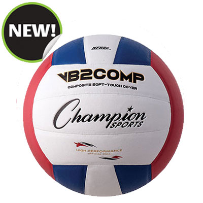 Champion Sports VB2RWB 8.25 in. VB Pro Comp Series Volleyball - Red Blue & White