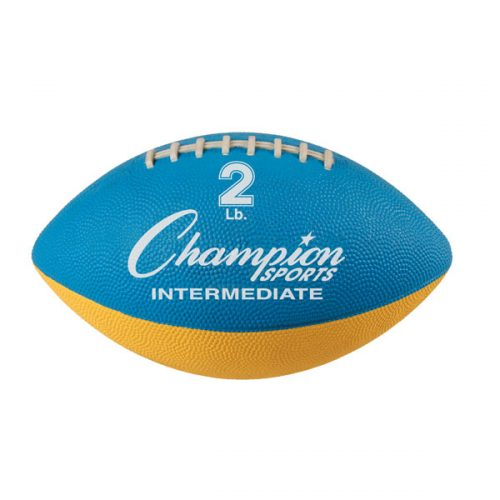 Champion Sports WF22 2 lbs Intermediate Size Football Trainer Blue & Yellow
