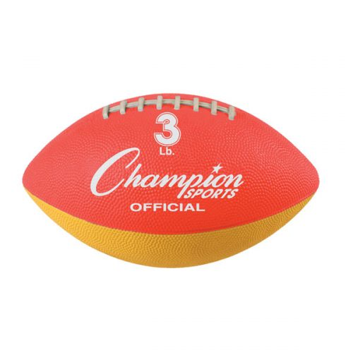 Champion Sports WF31 3 lbs Official Size Football Trainer Red & Yellow