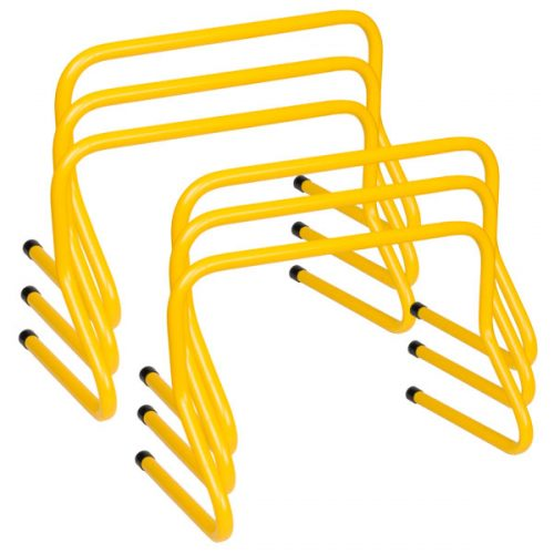 Champion Sports WPH12SET 12 in. Weighted Training Hurdle Set Yellow - Set of 6