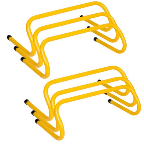 Champion Sports WPH6SET 6 in. Weighted Training Hurdle Set Yellow - Set of 6