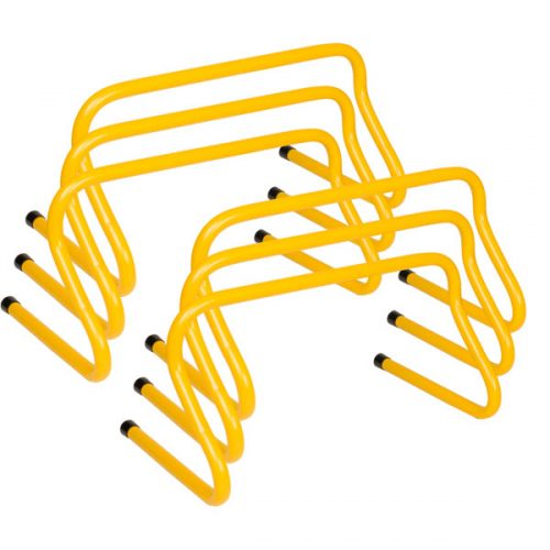 Champion Sports WPH9SET 9 in. Weighted Training Hurdle Set Yellow - Set of 6