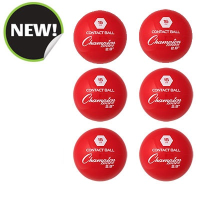 Champion Sports WTB28SET 2.8 in. Weighted Training Balls Red - Set of 6
