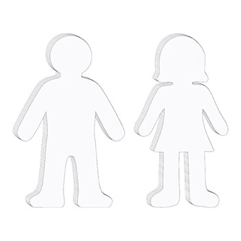 Chenille Kraft Company CK-9875 Whiteboard People Shapes 10/Set