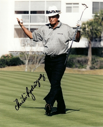"Chi Chi Rodriguez Autographed Golf 8"" x 10"" Photograph (Unframed)"