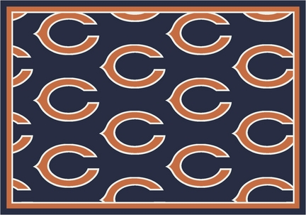 "Chicago Bears 3' 10"" x 5' 4"" Team Repeat Area Rug (Blue)"