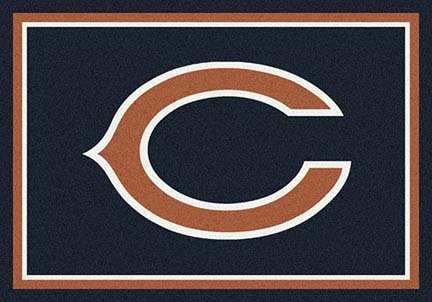 "Chicago Bears 3' 10"" x 5' 4"" Team Spirit Area Rug (Black)"