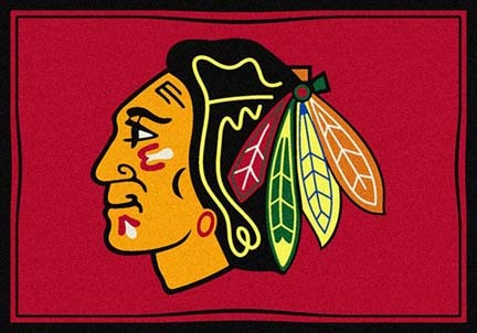 "Chicago Blackhawks 3' 10"" x 5' 4"" Team Spirit Area Rug"