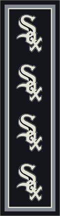 "Chicago White Sox 2' 1"" x 7' 8"" Team Repeat Area Rug Runner"